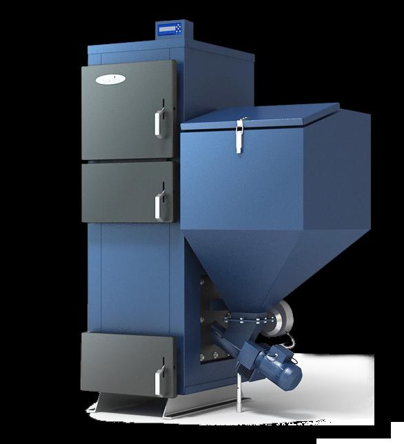 Твердотопливный котел Biokaitra с автоматической подачей топлива и электронным управлением