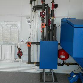 система отопления пеллетным котлом
